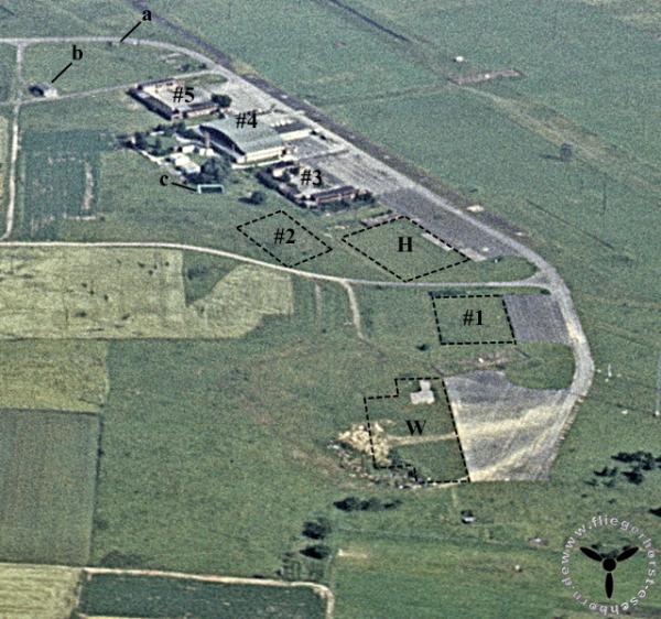 Flugplatz Eschborn bevor das Arboretum reichtet wurde