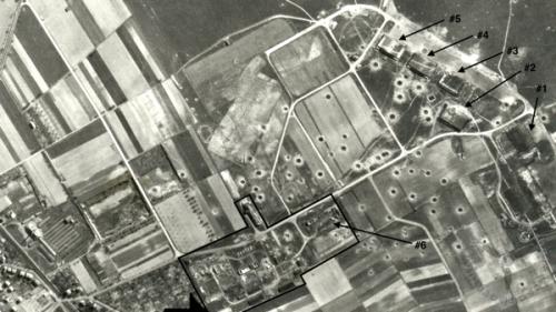 Aufnahme vom zerstörten Flughafen Eschborn